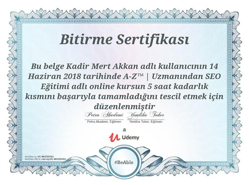 seo sertifikası