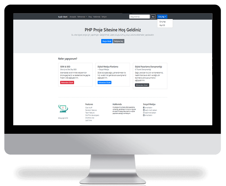 PHP Proje Web Sitesi
